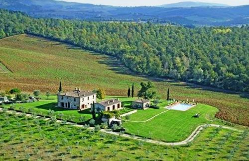 Dionora Tuscan estate aerial view