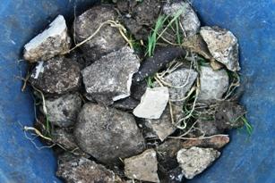 Rocks from garden