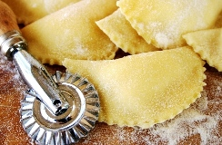Ravioli making in Sicily