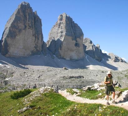3 Cime Dolomites trail to Rifugio Locatelli