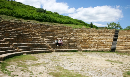 greek theatre morgantina Sicily
