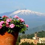 Hotel Timeo view of Etna