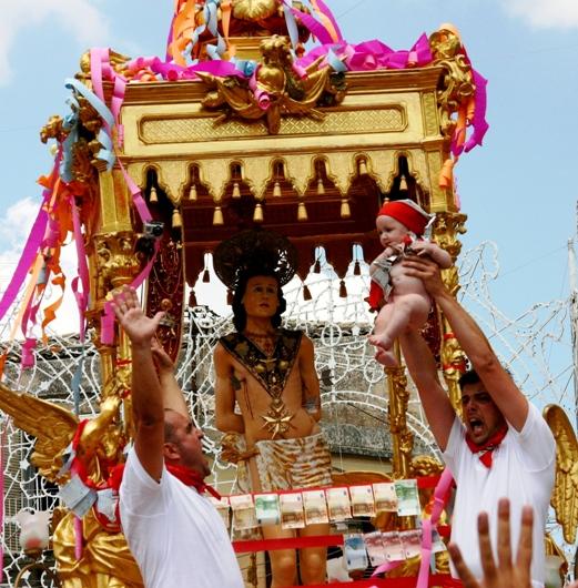 patron saint festival in Sicily