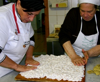 making torrone in Sicily