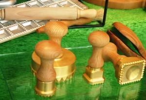 Brass ravioli cutters