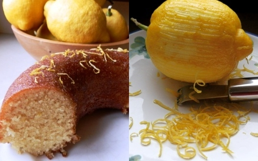 Sicily Lemon cake and zest