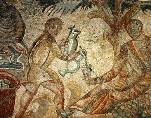 Roman mosaic in Sicily