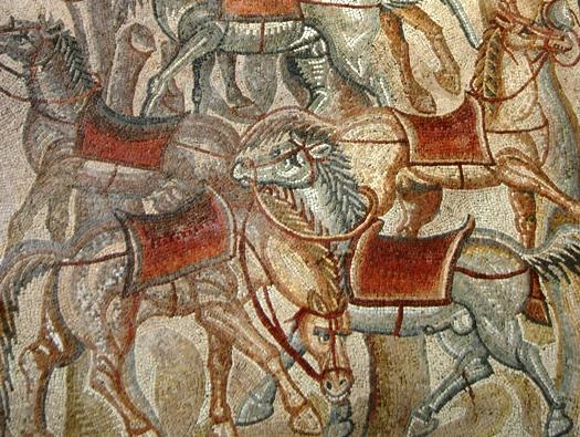 Villa del Tellaro detail Roman mosaic